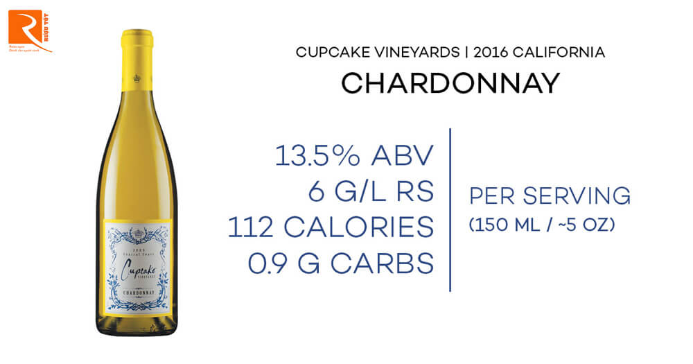 Cupcake Vineyards là Rượu vang California Chardonnay 2016