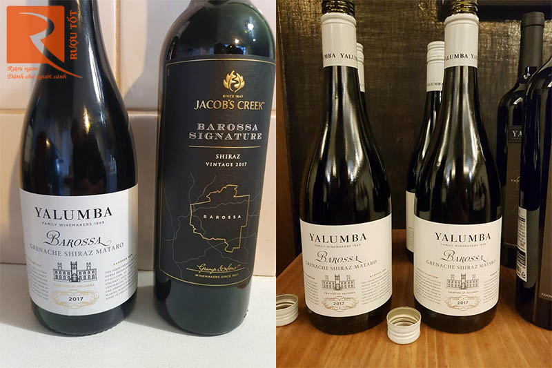 Vang Úc Yalumba Barossa Grenache Shiraz Mataro Samuel Collection