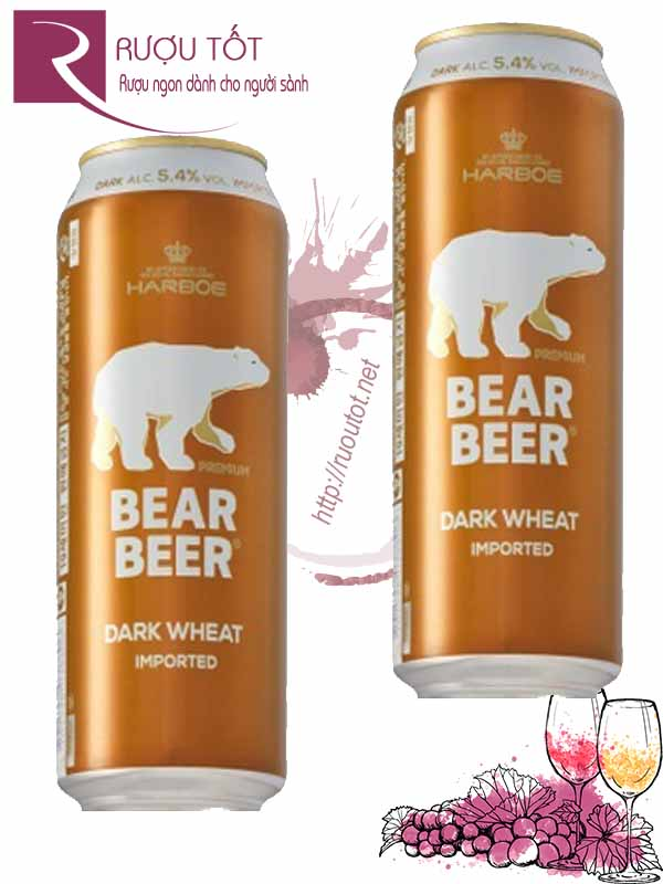 Bia Bear Beer Dark Wheat Gấu Harboe