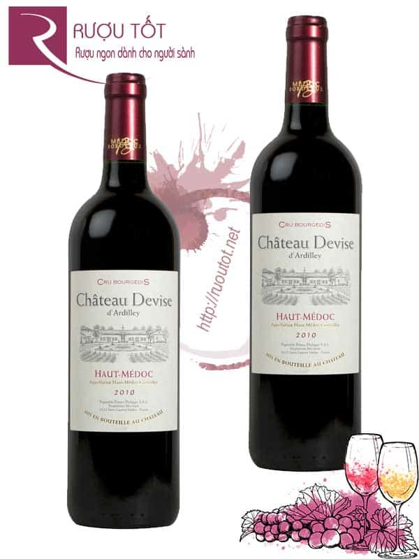 Vang Pháp Chateau Devise D'Ardilley Cru Bourgeois Chiết khấu cao