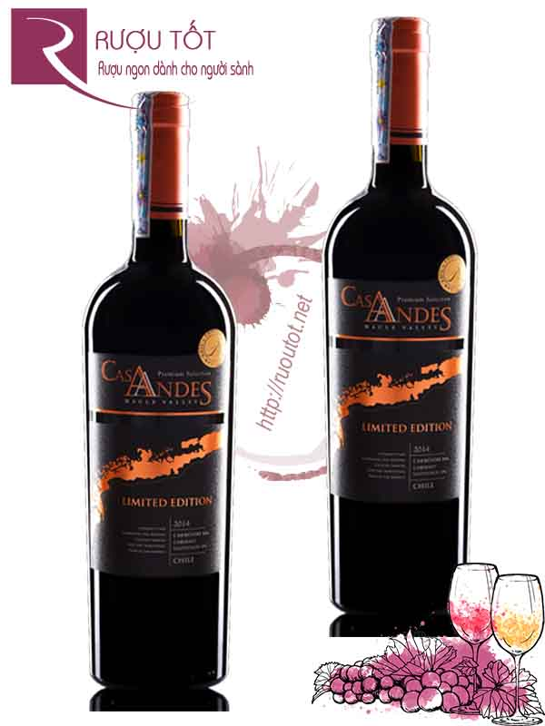 Vang Chile Cas Andes Limited Edition