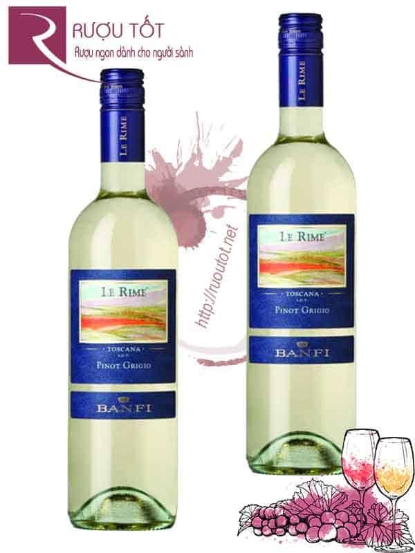 Rượu vang trắng Banfi Le Rime cao cấp