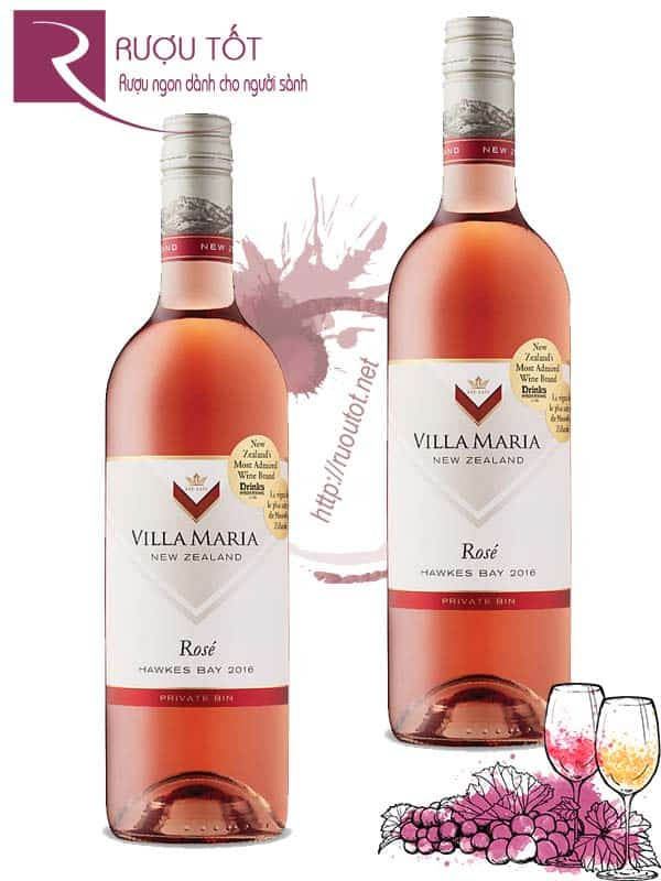 Rượu Vang New Zealand Villa Maria Private Bin Rose