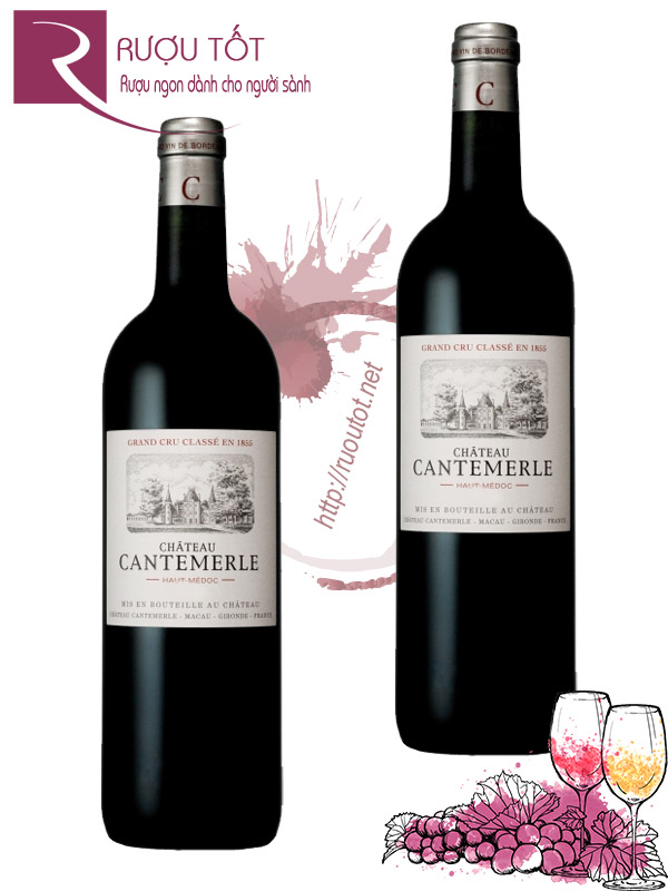 Vang Pháp Chateau Cantemerle Haut Medoc 2009