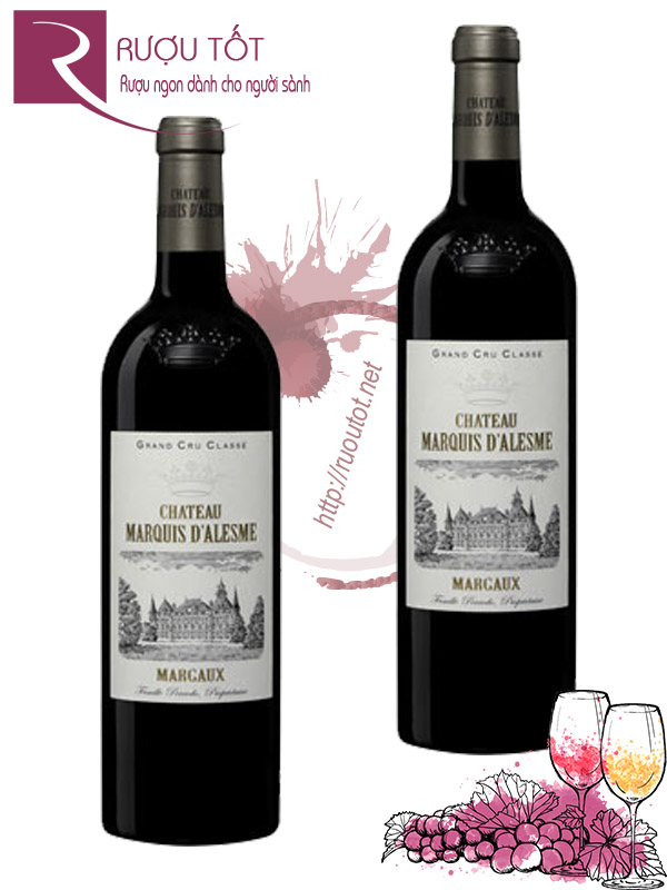 Vang Pháp Chateau Marquis DAlesme Margaux Thượng hạng
