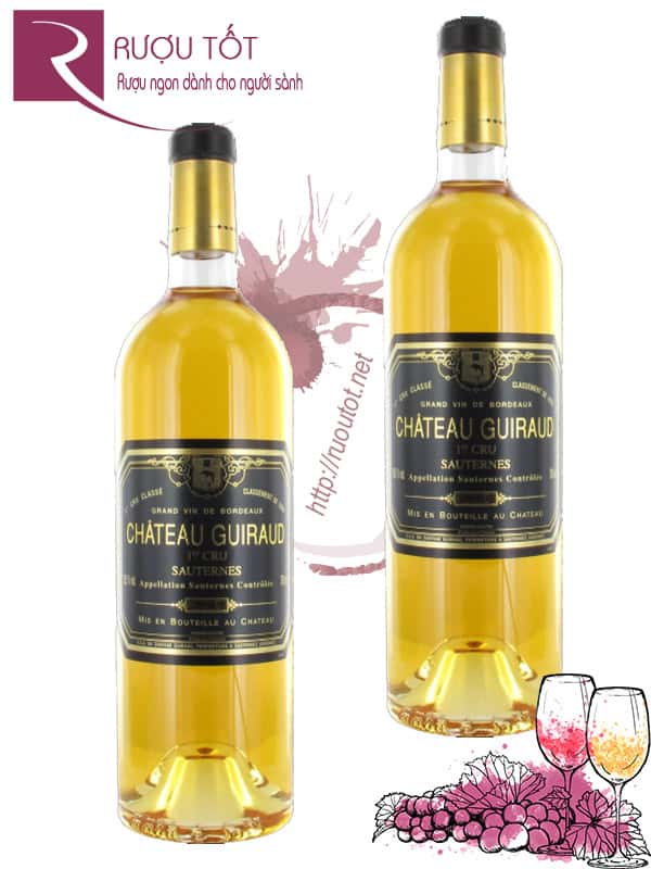 Vang Pháp Chateau Guiraud Sauternes 2016 Cao cấp