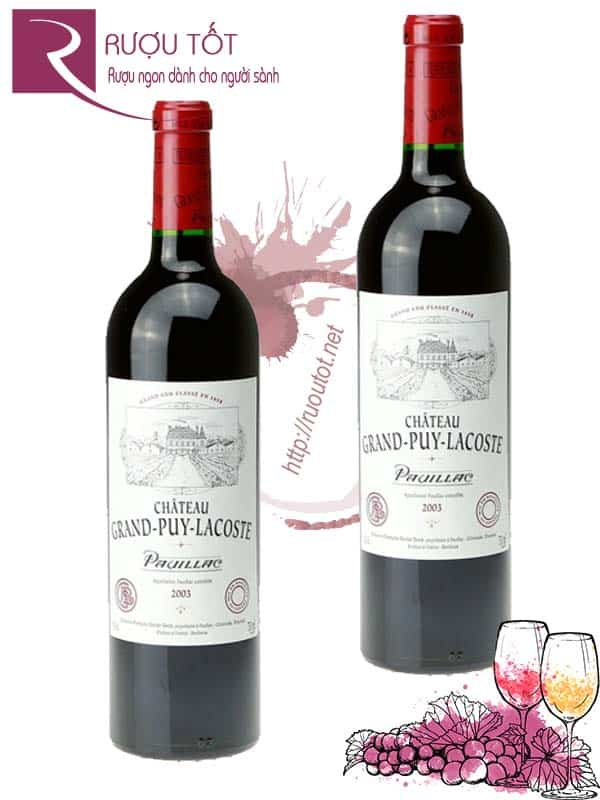 Vang Pháp Chateau Grand Puy Lacoste 2003, 2005 Hảo hạng