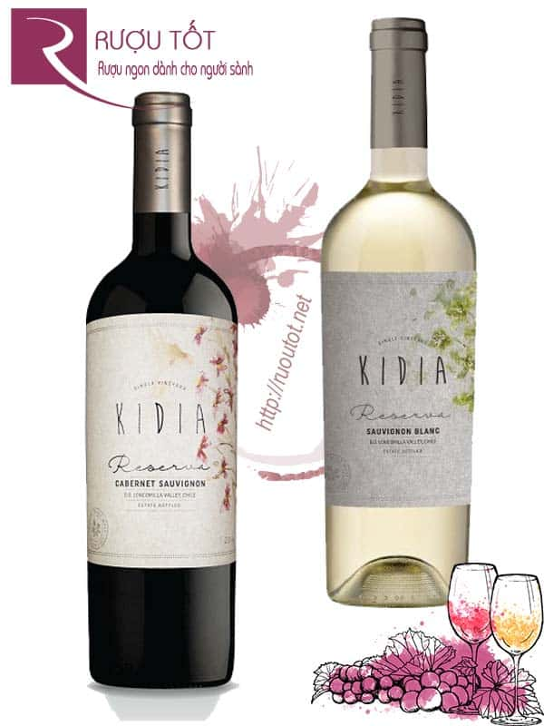 Rượu vang Chile Kidia Reserva (Red – White)