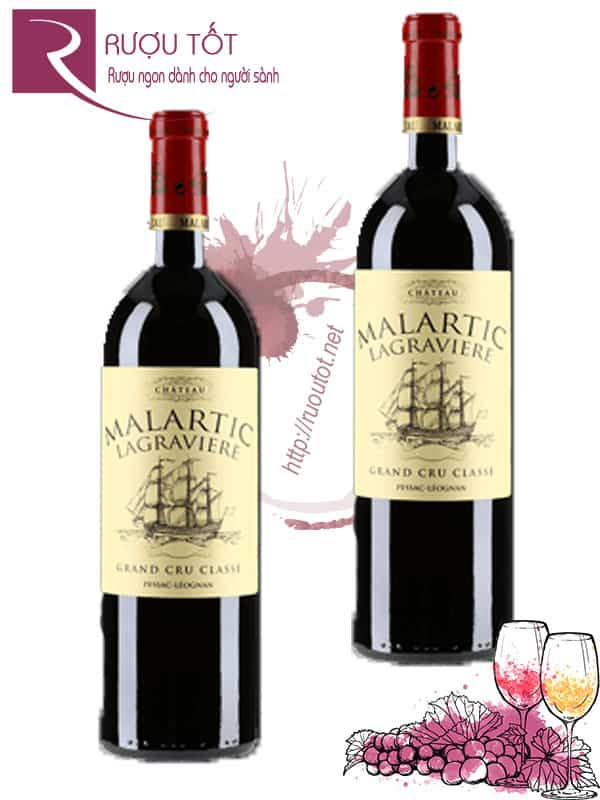 Vang Pháp Chateau Malartic Lagraviere Crus Classe