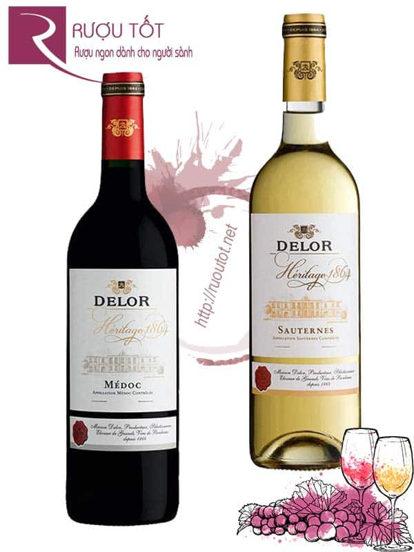 Vang Pháp Delor Heritage 1864 Bordeaux (Red – White)