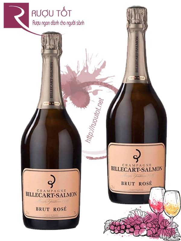 Champagne Pháp Billecart Salmon Brut Rose Cao cấp
