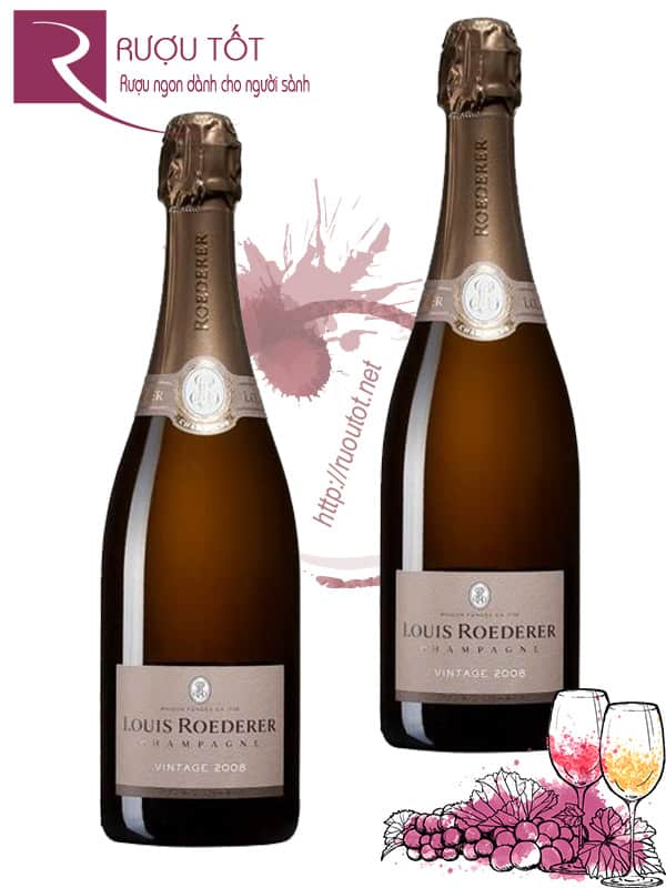 Champagne Pháp Louis Roederer Vintage Thượng hạng