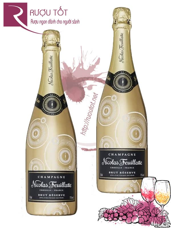Champagne Pháp Nicolas Feuillatte Brut Reserve Gold Label
