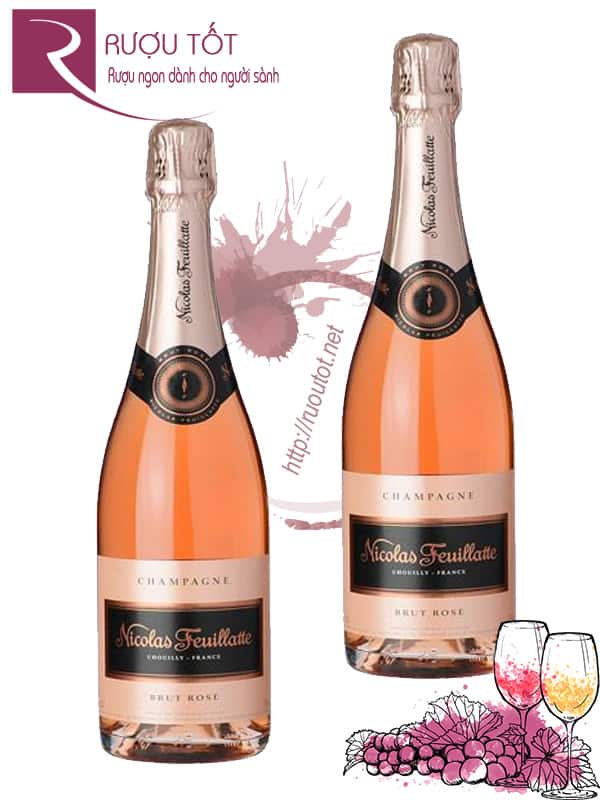 Champagne Pháp Nicolas Feuillatte Brut Rose Thượng hạng