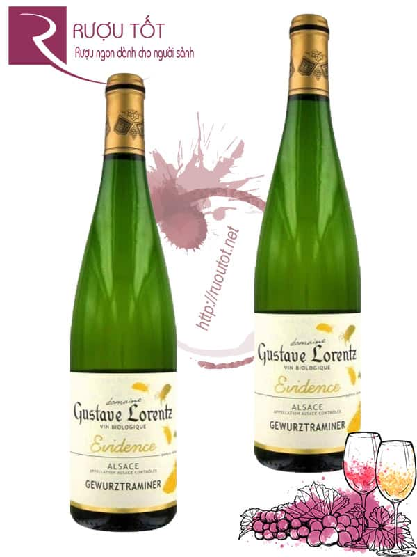 Vang Pháp Gustave Lorentz Evidence Riesling Alsace