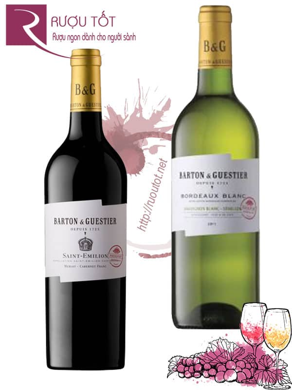 Vang Pháp Barton & Guestier Bordeaux Passeport (Red - White)