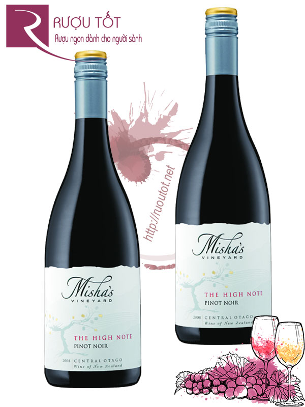Rượu vang Misha's Vineyard The High Note Pinot Noir Cao cấp