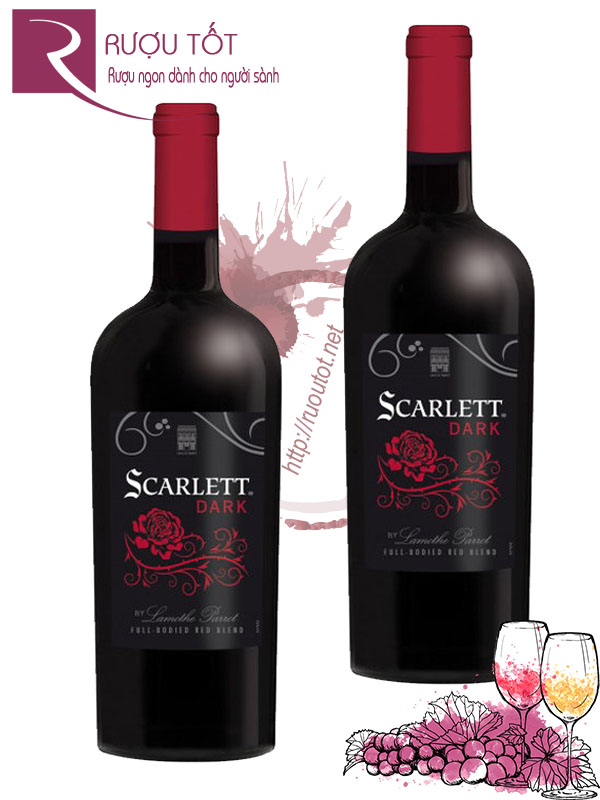 Rượu vang Scarlet Dark Lamothe Parrot Red Blend