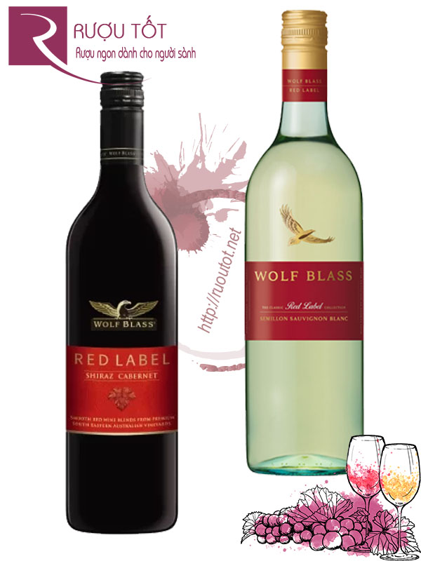 Rượu vang Wolf Blass Red Label (Red - White)