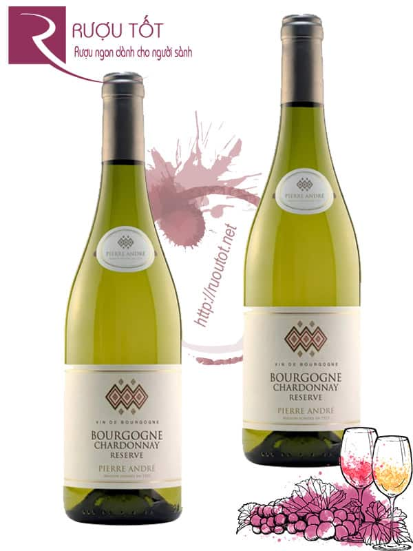 Vang Pháp Bourgogne Chardonnay Reserve Pierre Andre Cao Cấp