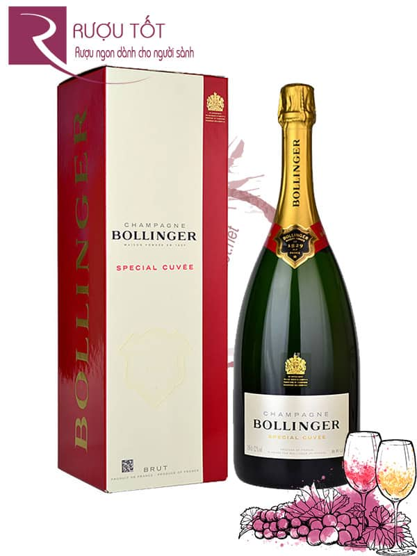 Champagne Pháp Bollinger Special Cuvee 1.5L Cao cấp