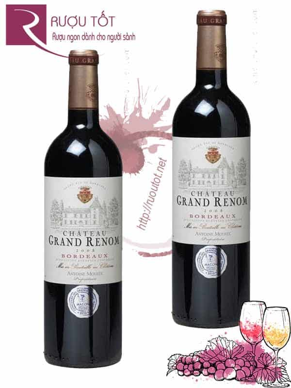 Vang Pháp Chateau Grand Renom Antoine Moueix Red
