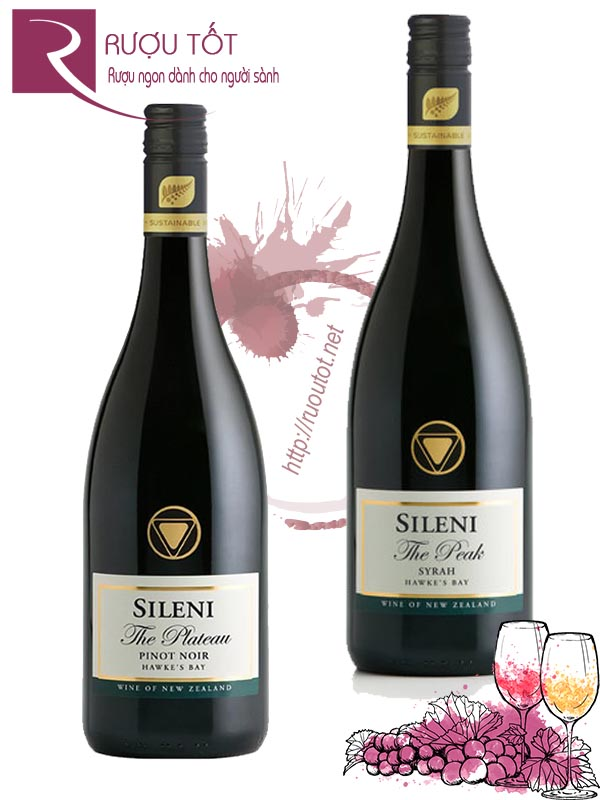 Vang New Zealand Sileni Estates Plateau Pinot Noir -The Peak Syrah