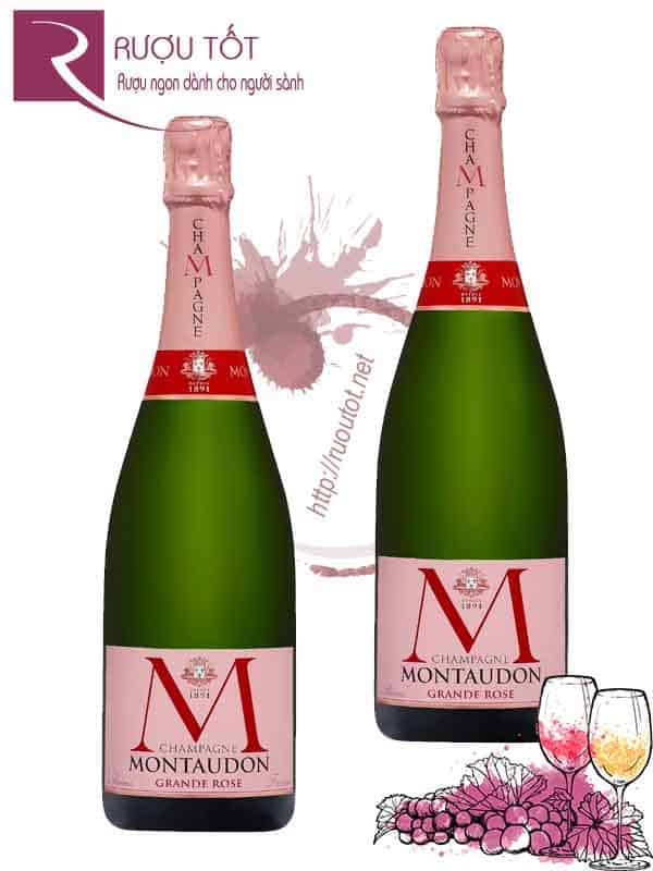 Rượu Champagne Pháp MMontaudon Brut Grande Rose Cao Cấp