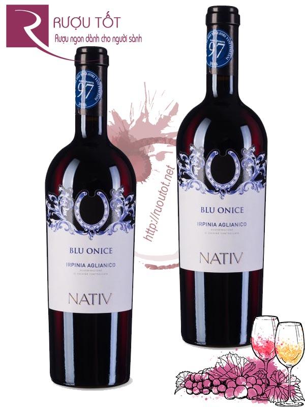 Rượu vang Nativ Blu Onice Irpinia Aglianico 97 điểm