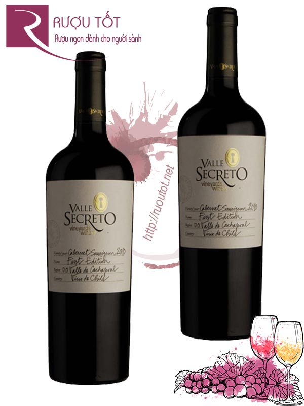 Vang Chile Valle Secreto First Edition Cabernet Sauvignon Cao cấp