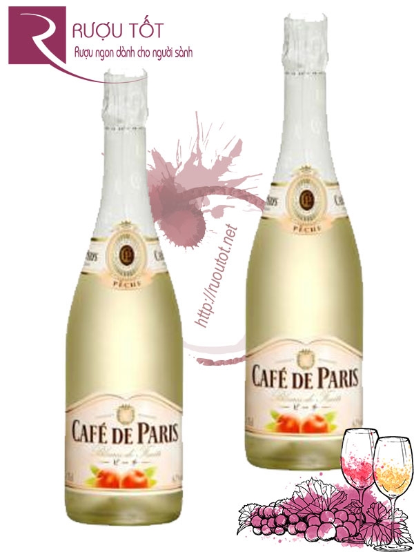 Rượu vang nổ Cafe De Paris Blancs de Fruits Peach