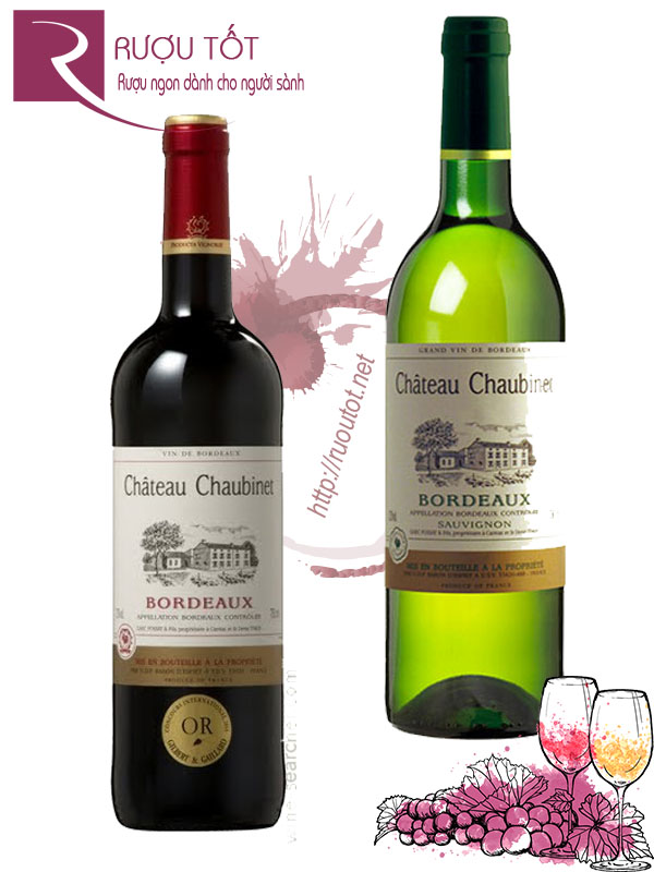 Rượu vang Chateau Chaubinet Bordeaux (Red - White)