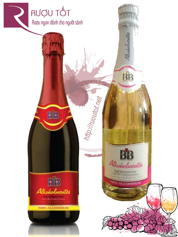 Rượu vang nổ BB Grape Juice Sparkling (Red - White)