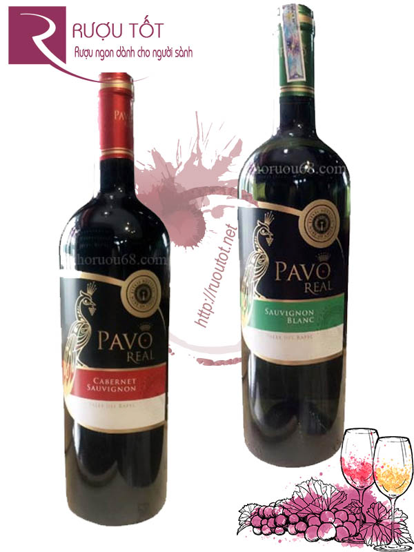 Vang Chile Pavo Real Varietal Red - White Cao cấp