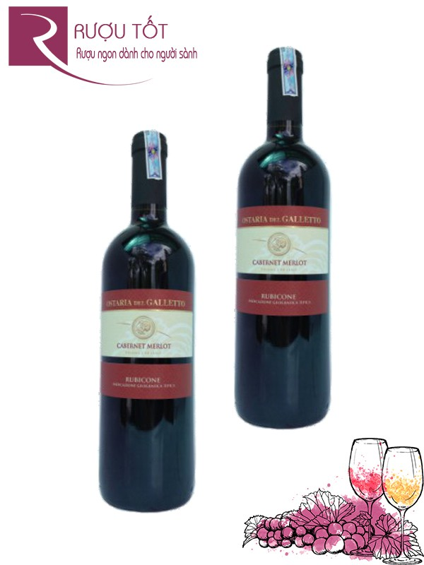 Rượu vang Ý Osteria Del Galletto Cabernet Merlot Rubicone