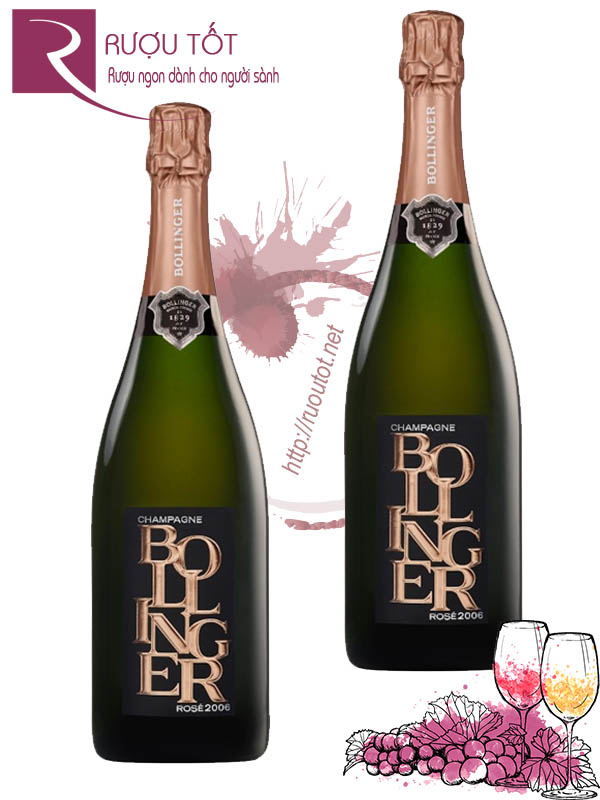 Champagne Pháp Bollinger Rosé Limited Edition Cao cấp