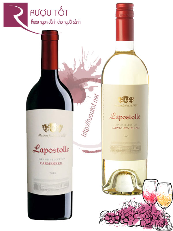Vang Chile Lapostolle Grand Selection Cabernet Red - White Cao cấp