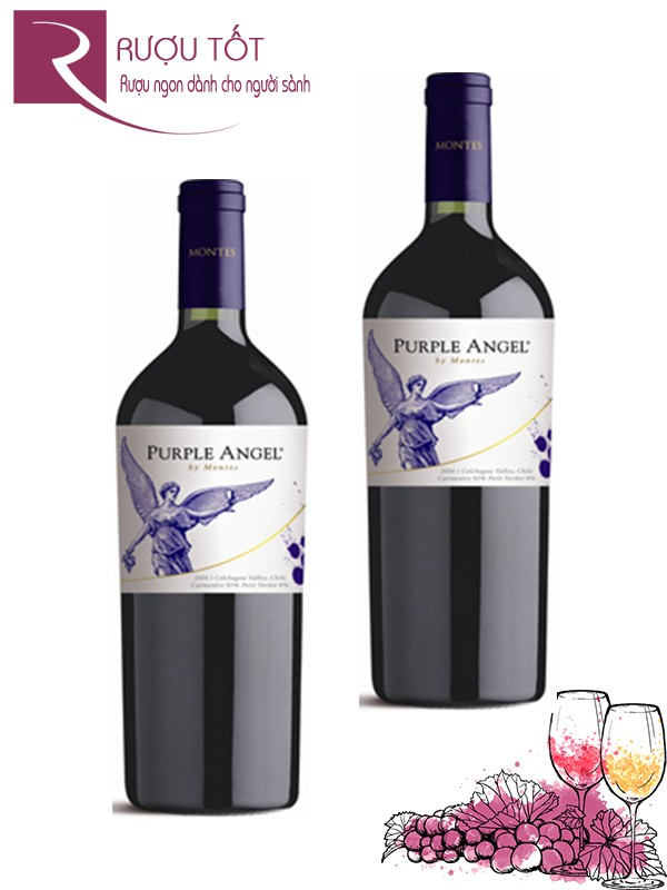 Vang Chile Montes Purple Angel Carmenere cao cấp