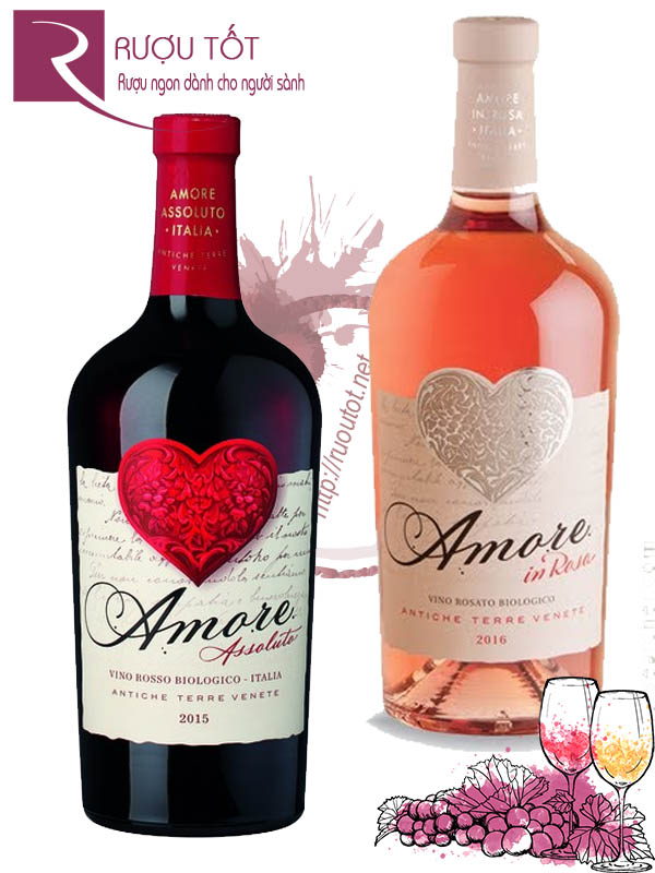 Vang Ý Amore Vino Biologico (Red - White - Rosé)