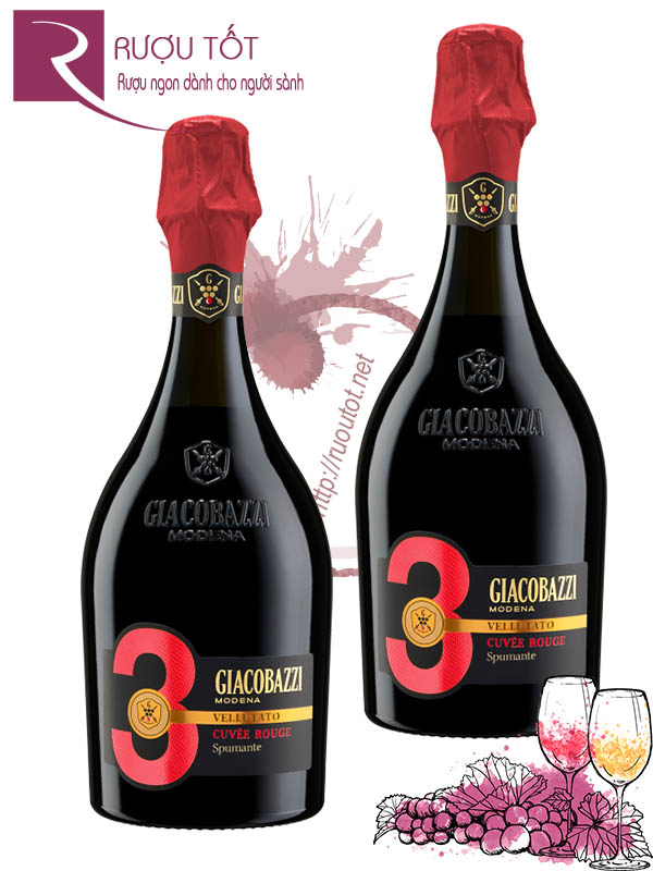 Vang Ý Giacobazzi 3 Cuvee Rouge Sparkling