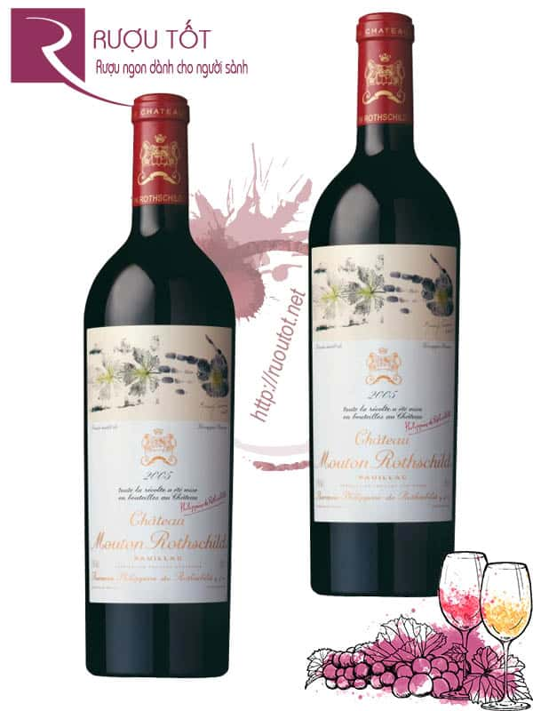 Vang Pháp Chateau Mouton Rothschild Pauillac 2005 Cao cấp