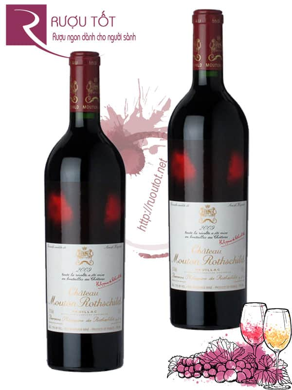 Vang Pháp Chateau Mouton Rothschild Pauillac 2009 Cao cấp