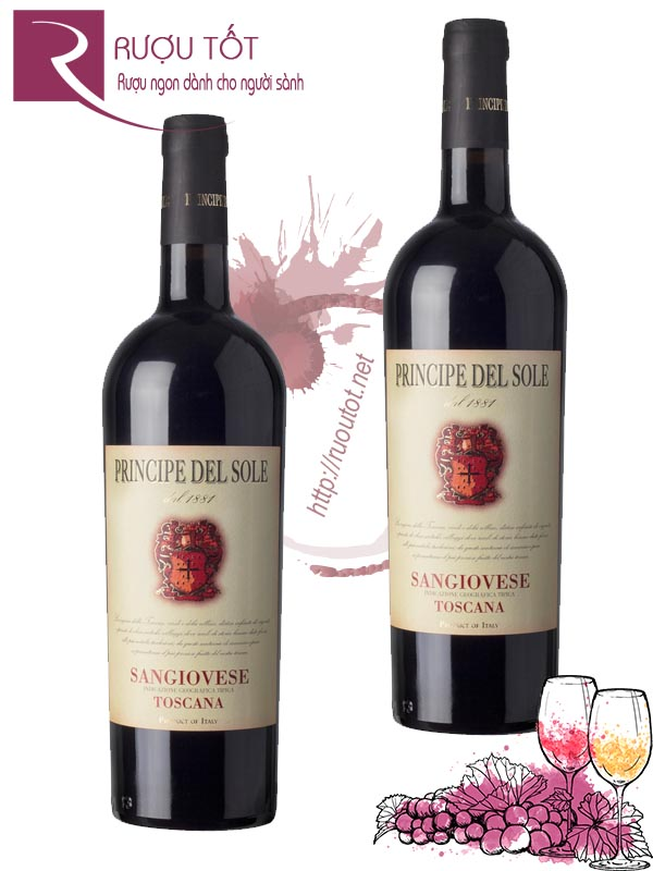 Vang Ý Principe del Sole Sangiovese Toscana Thượng hạng