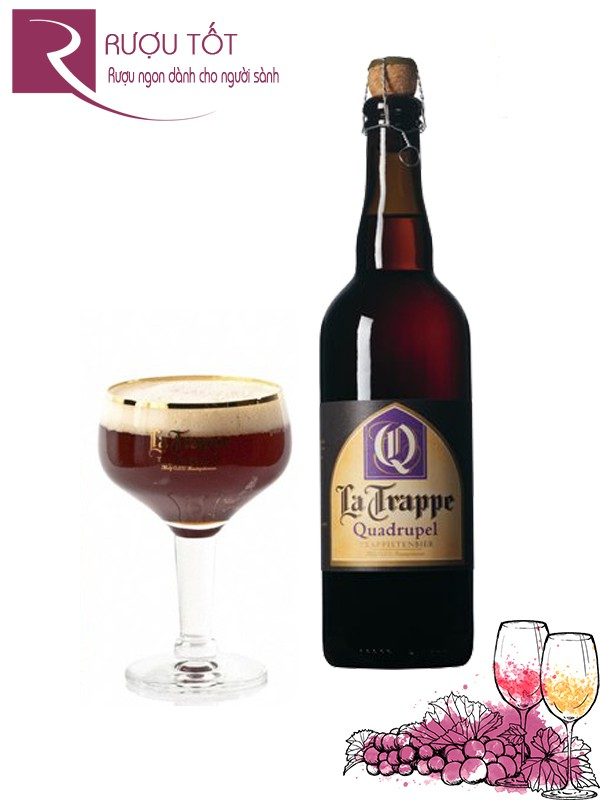 Bia La Trappe Quadrupel 330ml và 750ml