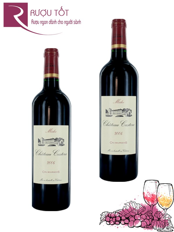 Vang Pháp Chateau Castera Medoc Cru Bourgeois Superieur Thượng hạng