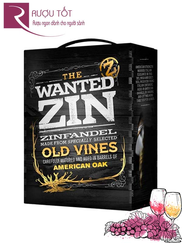 Vang Ý The Wanted Zin Old Vines Bịch 3L cao cấp