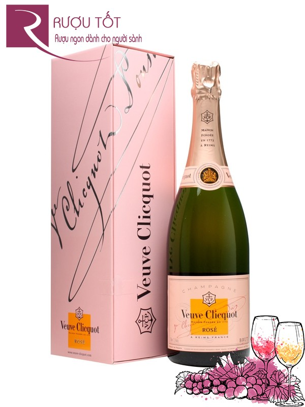 Rượu Champagne Veuve Clicquot Rose Label