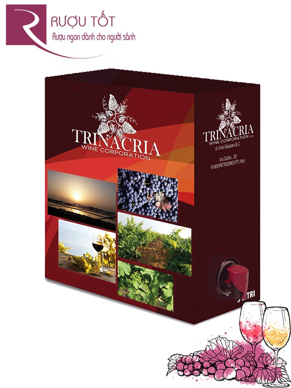 Vang Ý Bịch Ngọt Trinacria Fra Rouge Dolce