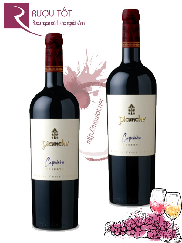 Vang Chile Picunche Carmenere Reserve Thượng hạng