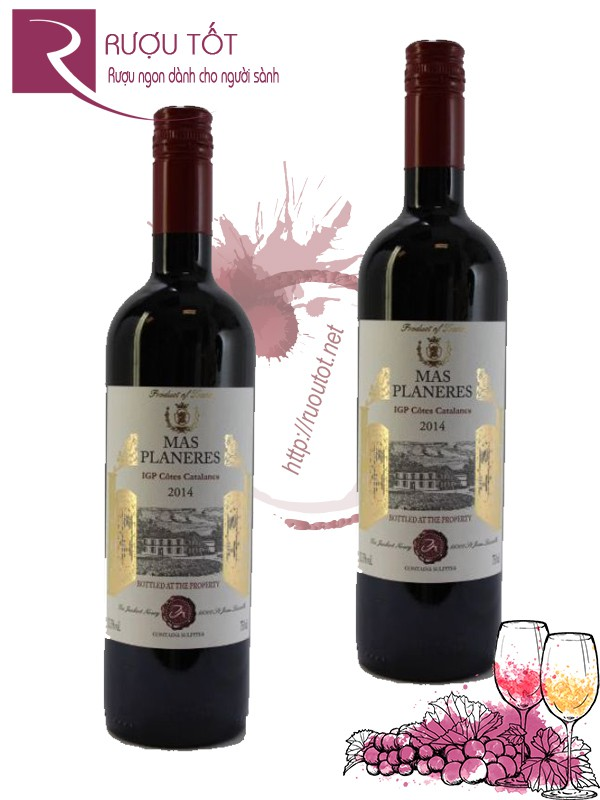 Vang Pháp Chateau Planeres Cotes Catalanes Rouge Thượng hạng
